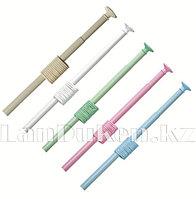 Карниз с металлической трубкой для ванной комнаты с кольцами (110*220 cm)