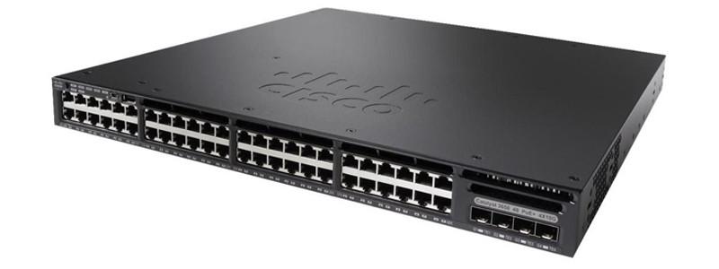 Коммутатор Cisco Catalyst 3650 48 Port PoE 4x1G Uplink LAN Base WS-C3650-48PS-L