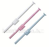 Карниз с металлической трубкой для ванной комнаты с кольцами (160*300 cm) 011