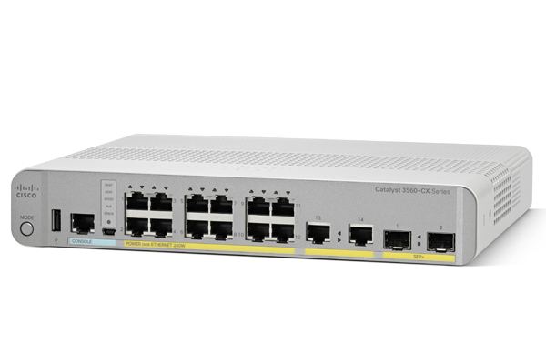 Коммутатор Cisco Catalyst 3560-CX PD PSE 8 Port PoE, 1G Uplinks IP Base