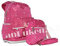 Рюкзак для начальных классов, для школьниц 3 в 1 (розовый) - фото 1