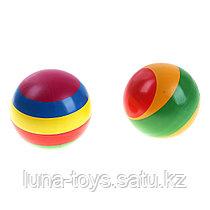Мяч диаметр 125 мм лакированный с полосой, цвета МИКС с-100ЛП
