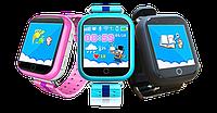 Часы GPS трекер для детей Q100 (Оригинал) Сенсорный экран!