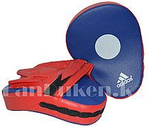 Лапы для бокса сине-красные с надписью и красной перчаткой