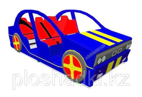 Машинка детская, с сидениями, синяя