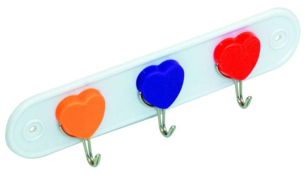 Крючок пластик на планке 3шт Аквалиния (WF-905)