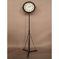 Напольные часы на штативе с чёрным патинированием  Tripod Clock Antique Black Patina