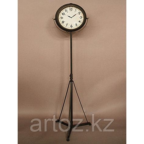 Напольные часы на штативе с чёрным патинированием  Tripod Clock Antique Black Patina, фото 2