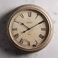 Настенные часы Париж из металла и выпуклого стекла Clock Paris Metal And Convex Glass