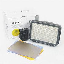 XT-160 II Накамерный LED прожектор фонарь+аккумулятор+зарядное устройство, фото 3