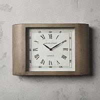 Серые металлические настенные часы Ар-деко Grey Metal Clock Art Deco
