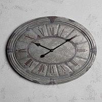 Овальные настенные часы с гальванизированной патиной Oval Clock Galvanized Patina