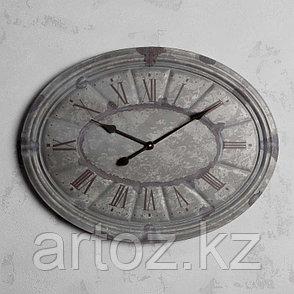 Овальные настенные часы с гальванизированной патиной  Oval Clock Galvanized Patina, фото 2
