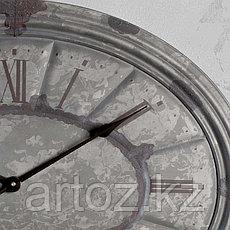 Овальные настенные часы с гальванизированной патиной  Oval Clock Galvanized Patina, фото 3