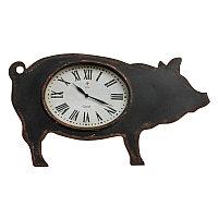 Настенные часы Свинка Pig Clock Old Black Finish