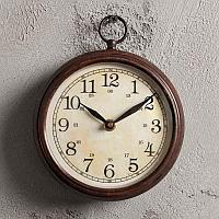 Малые винтажно-коричневые настенные часы Small Сlock Antique Brown