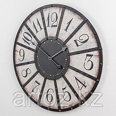 Чёрно-белые металлические настенные часы  Black And White Metal Clock, фото 2