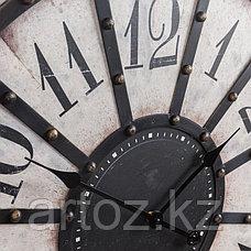 Чёрно-белые металлические настенные часы  Black And White Metal Clock, фото 3