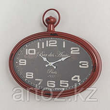 Красные овальные настенные часы Бар Дез Ами  Oval Red Clock Bar-Des Amis, фото 2