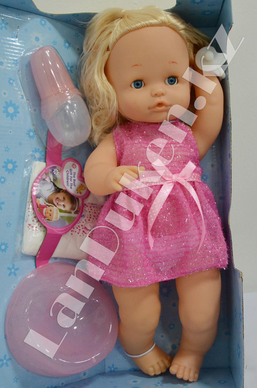 Детская кукла девочка New Baby Born с аксессуарами - фото 1