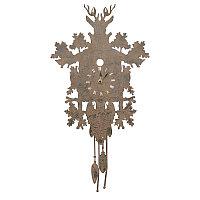 Настенные часы с маятником и оленем Metal Clock Pendulum With Deer