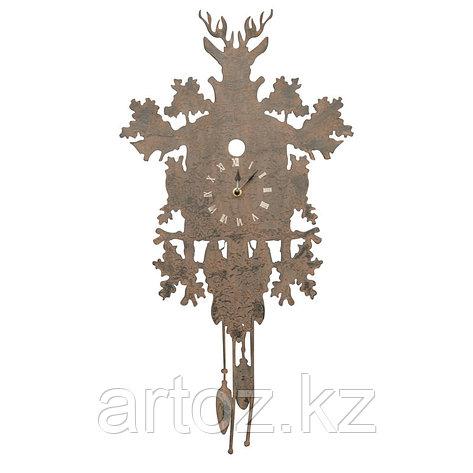 Настенные часы с маятником и оленем  Metal Clock Pendulum With Deer, фото 2