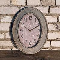 Металлические овальные настенные часы Metal Clock Oval