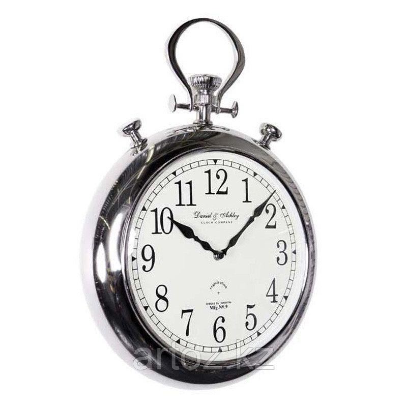 Настенные часы-хронометр, никелированная сталь  Clock Pocket, Nickel