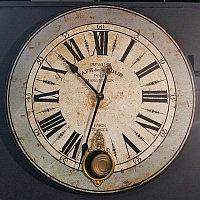 Деревянные настенные часы Кафе де ла Тур Wooden Clock Cafe De La Tour