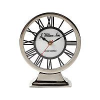 Настольные часы из алюминия и никелированной стали  Clock Aluminium Nickel