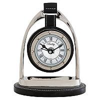 Настольные часы Бейли-наездника, никелированная сталь  Clock Bailey Equestrian, Nickel