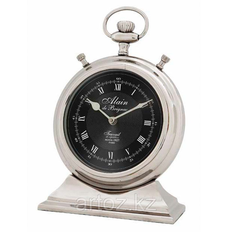 Большие настольные часы Ален  Clock Alain Nickel Large