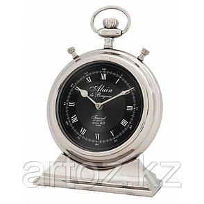 Большие настольные часы Ален  Clock Alain Nickel Large, фото 2