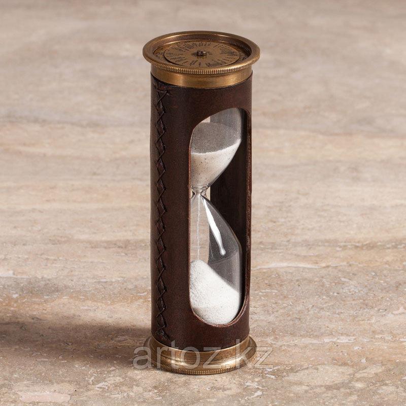 Песочные часы на 5 минут из меди и кожи  Sandtimer 5 Min Copper And Leather