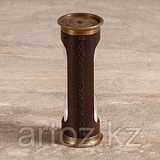 Песочные часы на 5 минут из меди и кожи  Sandtimer 5 Min Copper And Leather, фото 3