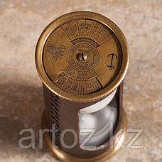 Песочные часы на 5 минут из меди и кожи  Sandtimer 5 Min Copper And Leather, фото 2