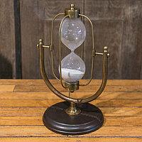 Песочные часы на 15 минут из кожи и меди Sandtimer 15 Min Copper And Leather