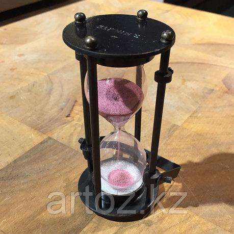 Медные песочные часы c розовым песком  Brass Sandtimer Pink, фото 2