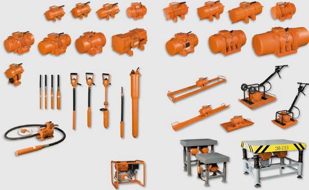 Виброоборудование, виброплиты, виброрейки, глубинные вибраторы