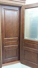 Межкомнатная дверь из массива сосны модель М5 коньяк