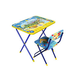 НИКА Набор мебели ПОЗНАЮ МИР (стол + мяг стул) h580