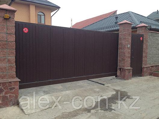 Сдвижные консольные ворота 4000x2200 Complete, фото 2