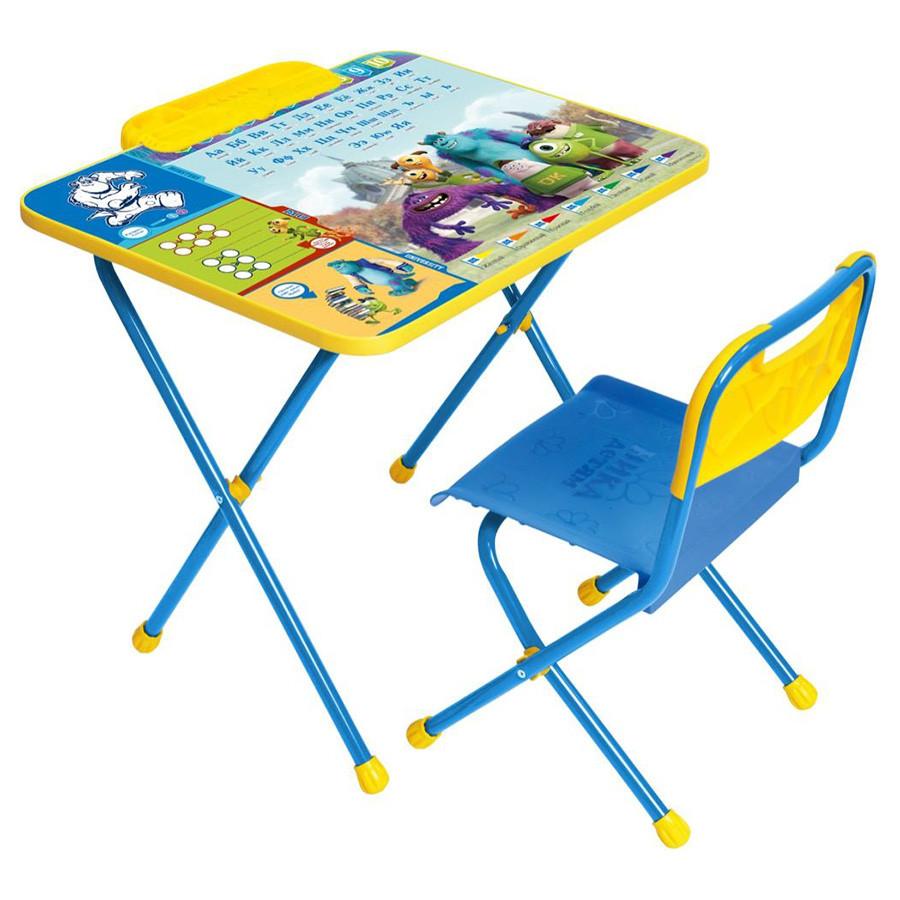 НИКА Набор мебели DISNEY 1 Университет Монстров (стол+пенал,стул с легкомоющ.тканью)