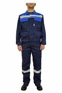 Костюм рабочий летний «Нова» (куртка+п/к, цвет синий/васильковый)