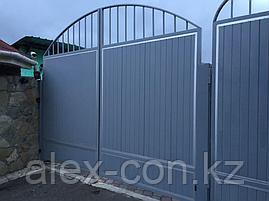 Ворота распашные 4000х2200 с калиткой STD Complete, фото 2
