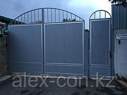 Ворота распашные 4000х2200 с калиткой STD Complete, фото 3