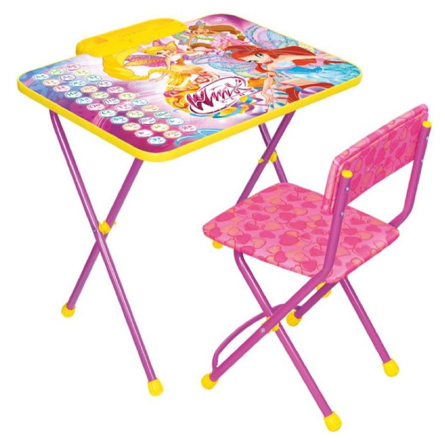 НИКА Набор мебели WINX 2 АЗБУКА (стол складн.+пенал,стул )