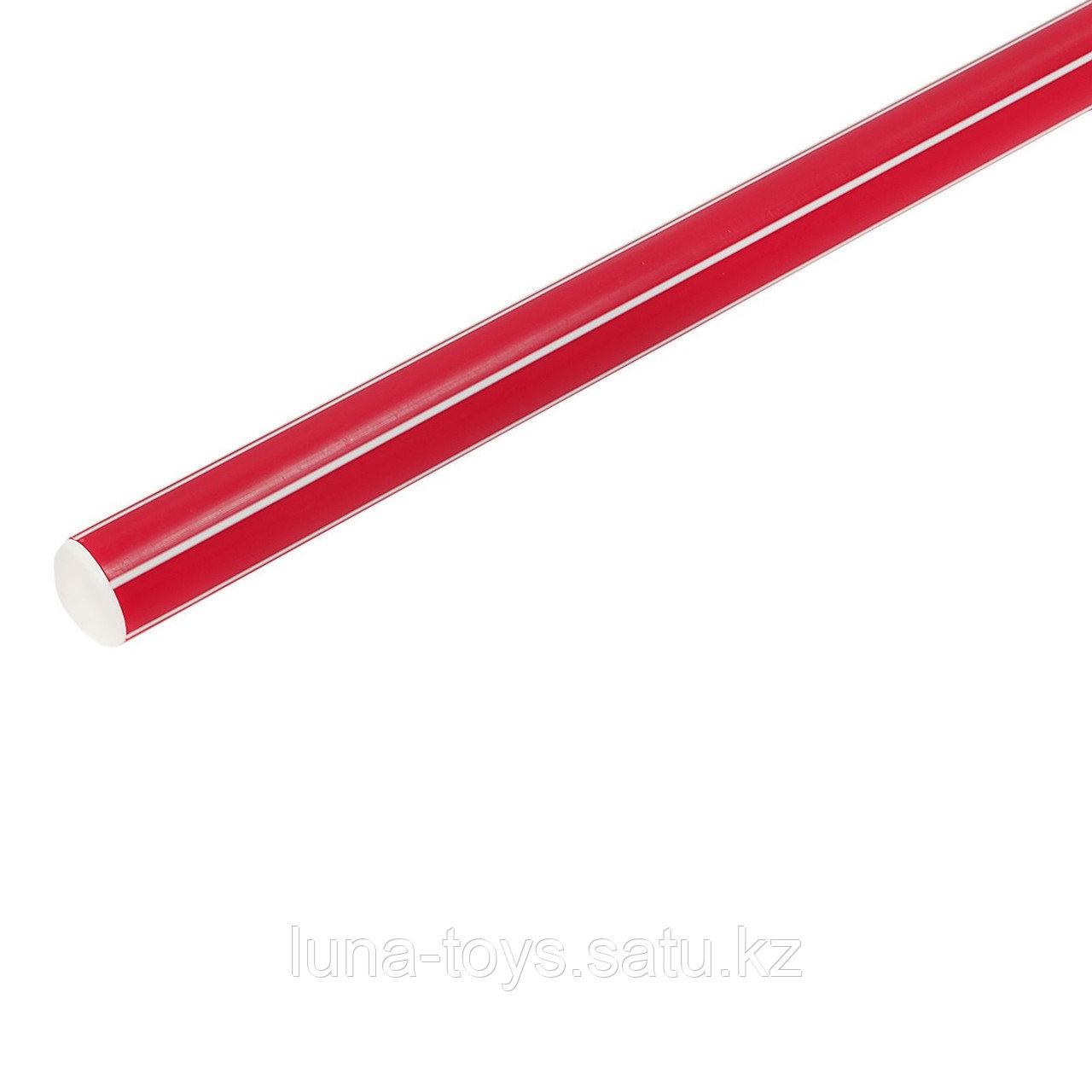 Палка гимнастическая 70см, цвет: красный