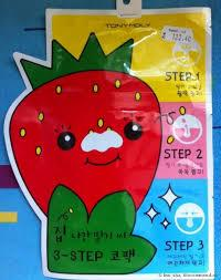 Пластыри для носа против черных точек TONY MOLY Homeless Strawberry Seeds 3-step Nose Pack