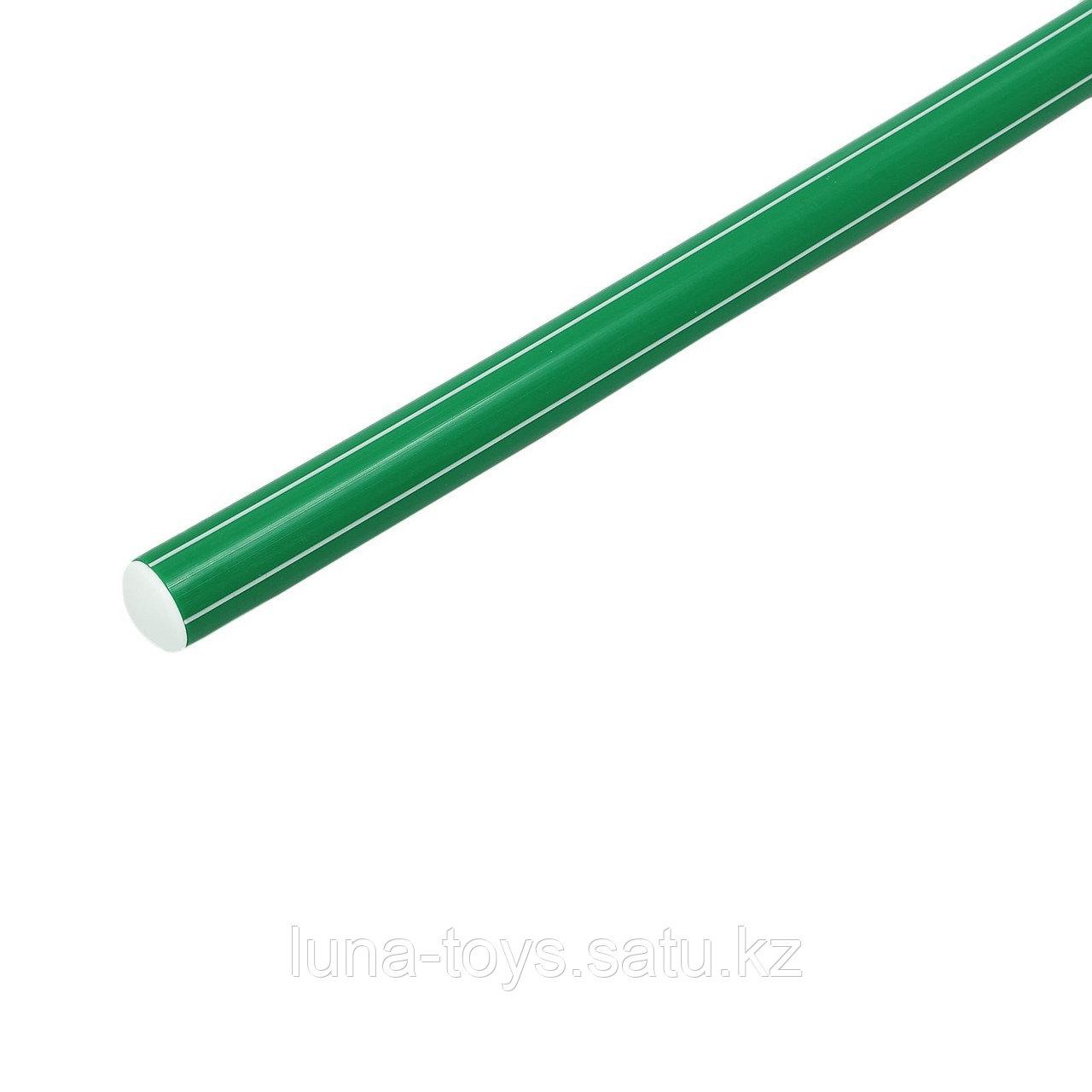 Палка гимнастическая 90см, цвет: зеленый